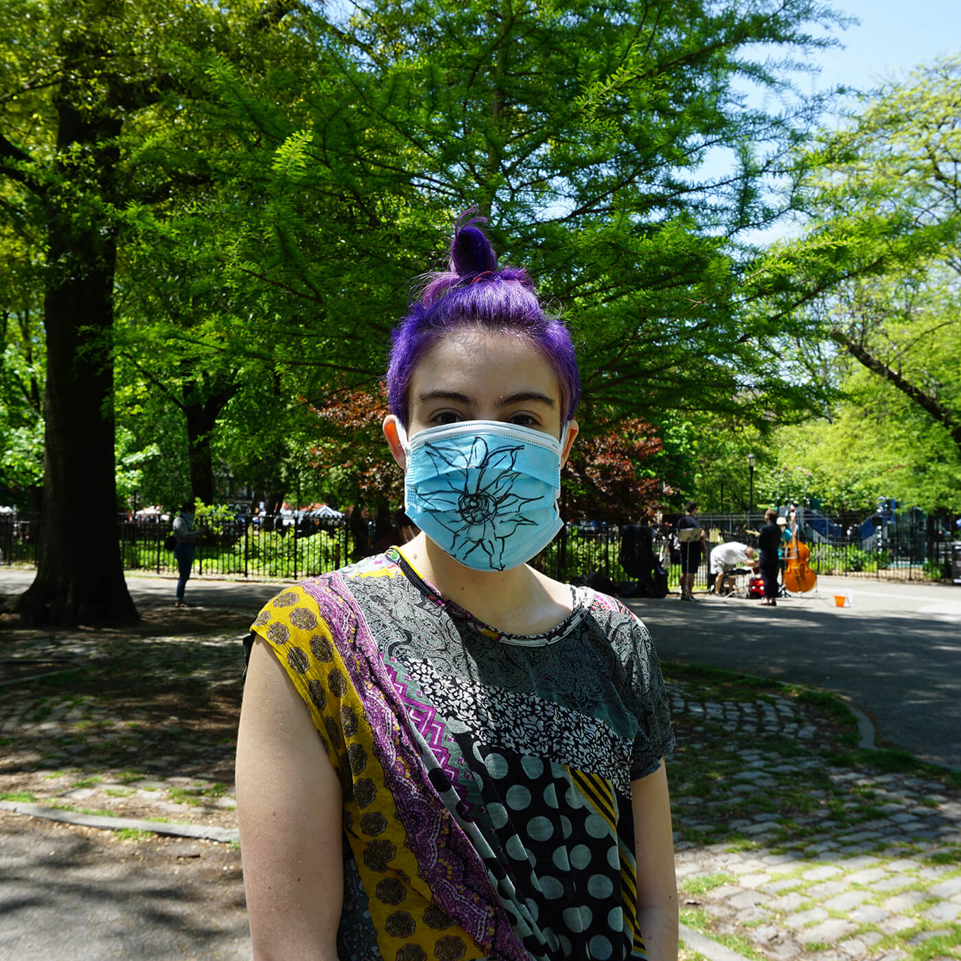 Tompkins Square Park – COVID Mask Installation